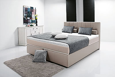 breckle boxspringbett peach ii 160x200 inkl topper schlamm. Black Bedroom Furniture Sets. Home Design Ideas