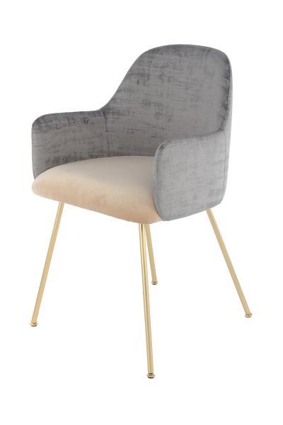 Stuhl Richard 525 Grau / Beige von Kayoom