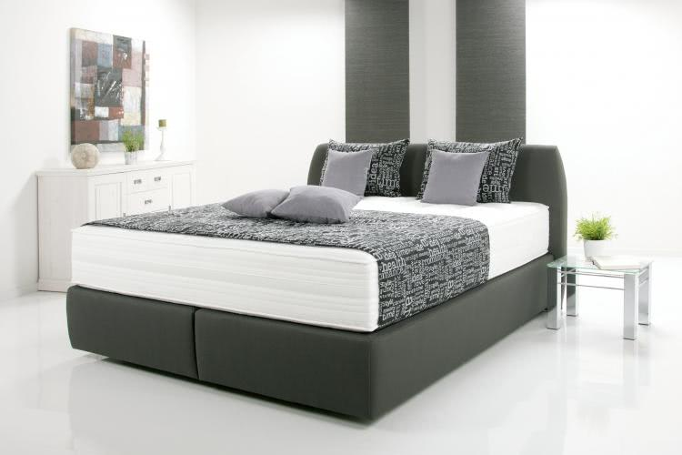 180x200 boxspringbett luna anthrazit. Black Bedroom Furniture Sets. Home Design Ideas