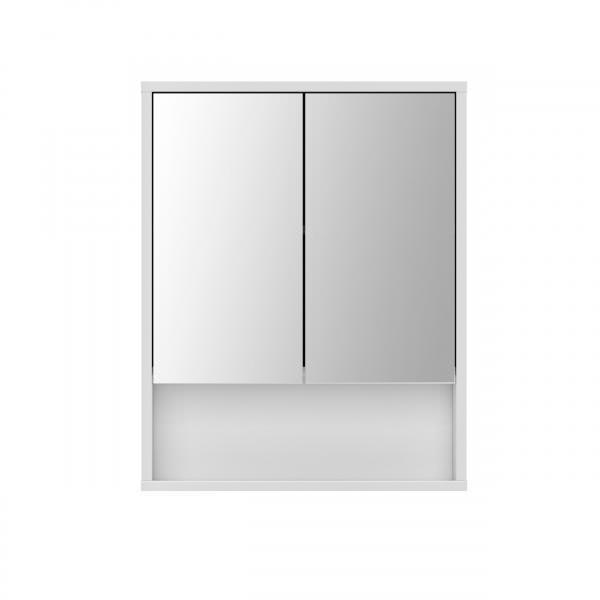 Spiegelschrank Sunset Bade II 34SU0Q50 von Wohnorama Betonoptik / Melamin weiß