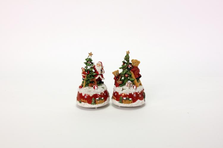 Spieluhr Bär & Santa 9,5x15,5 cm 1 Stück von Werner Voss