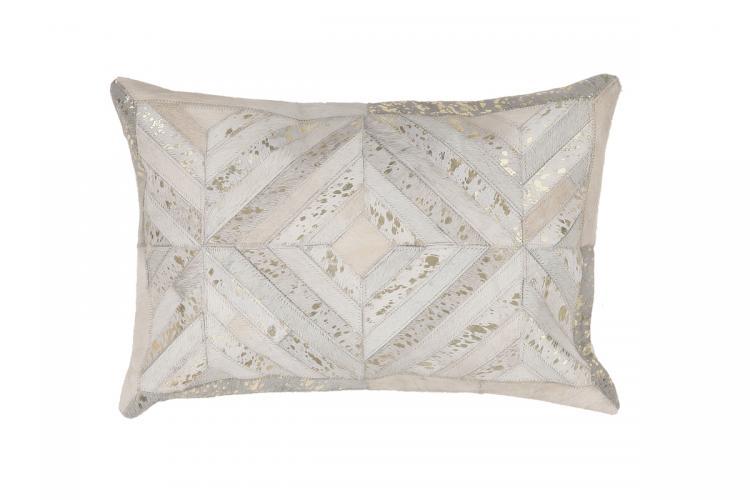 40x60 Kissen Spark Pillow 410 Elfenbein / Gold von Kayoom
