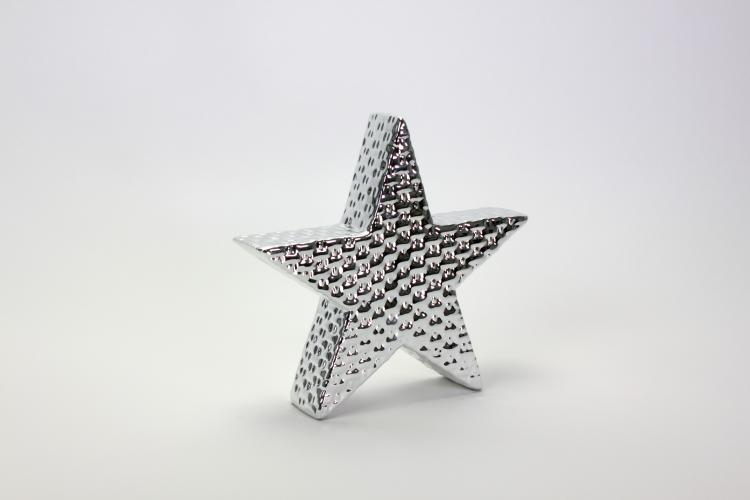 Deko Stern Silver Star 26x24,8 cm Silber von Werner Voss