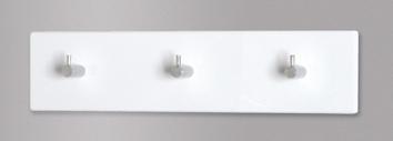 Garderobenleiste EDDY 3 von HAKU Weiss / Chrom