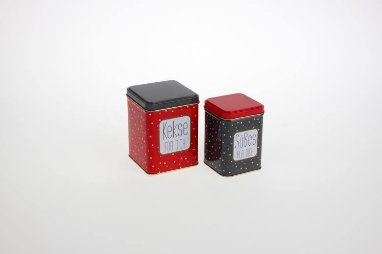 Keksdose groß Rot / Grau von Werner Voss