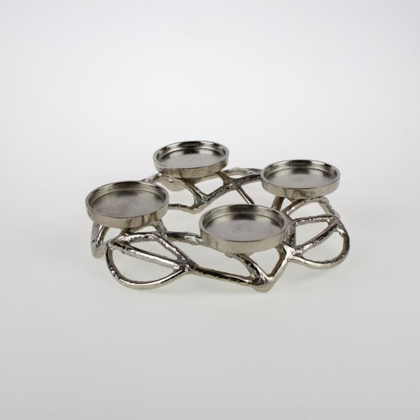 Adventsleuchter ø31 cm Silber von Werner Voss