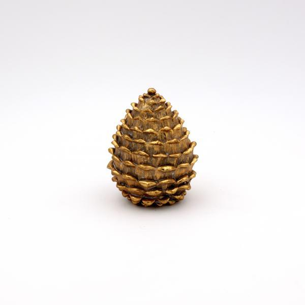 Dekozapfen stehend 12,5 cm hoch Gold von Werner Voss