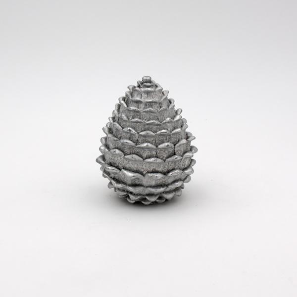 Dekozapfen stehend 12,5 cm hoch Silber von Werner Voss