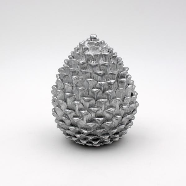 Dekozapfen stehend 17 cm hoch Silber von Werner Voss