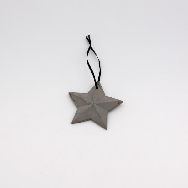 Deko Hänger Stern Ornament ø9,5 cm Grau von Werner Voss