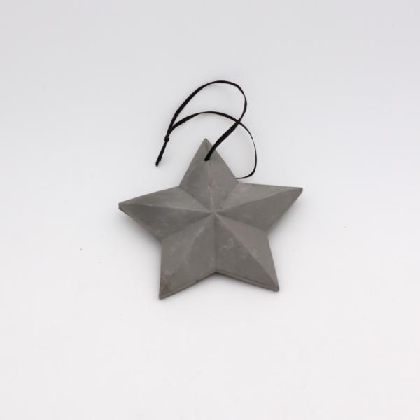 Deko Hänger Stern Ornament ø13 cm Grau von Werner Voss