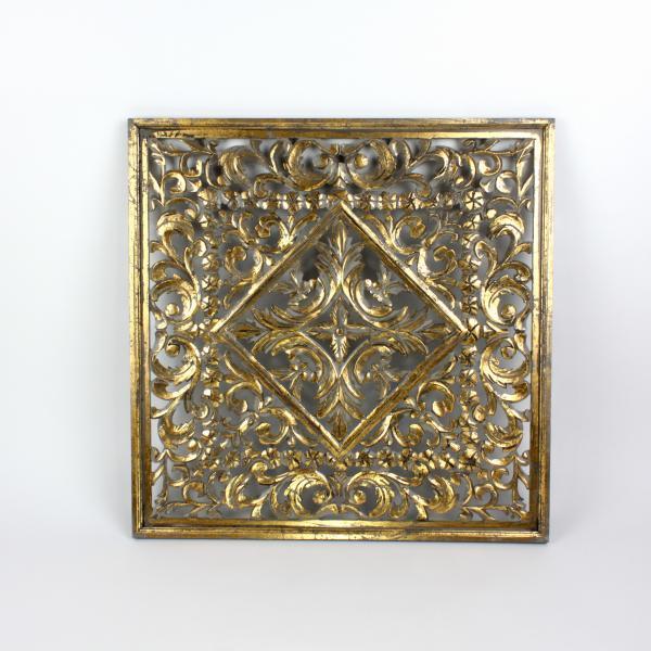 Wandobjekt 90x90 cm Gold von Werner Voss