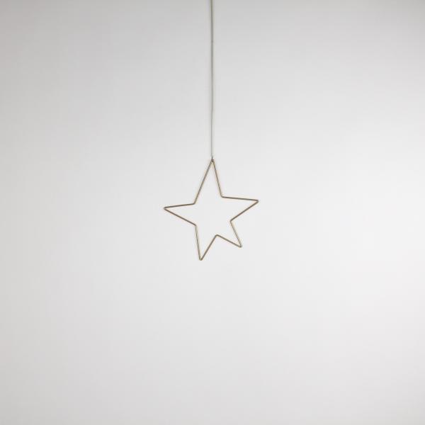 Deko-Stern 20,5x22,5 cm Gold von Werner Voss