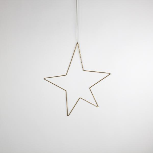 Deko-Stern 40x46 cm Gold von Werner Voss