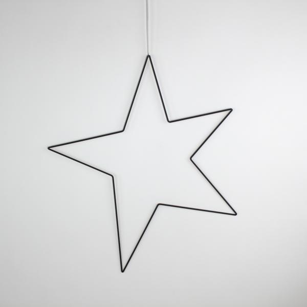 Deko-Stern 61x69 cm Schwarz von Werner Voss