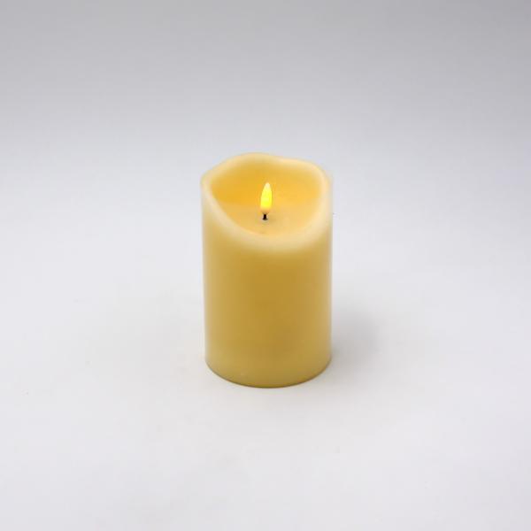 LED Kerze 3D Flame 10x20 cm Creme von Werner Voss