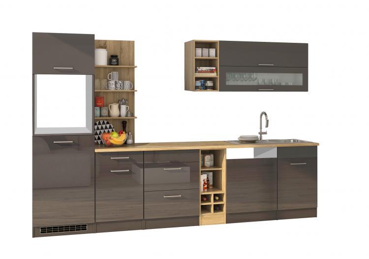 Leerblock 310 für Geschirrspüler MAILAND von Held Möbel Graphit / Eiche Sonoma