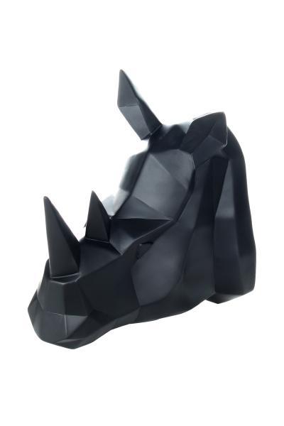 Wanddeko Rhino 110 Schwarz von Kayoom