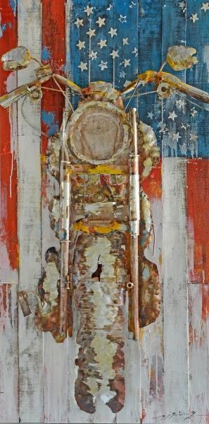 70x140 Metall Wandbild I United Staates  von Kayoom Multi