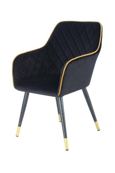 Stuhl Amino 525 Schwarz / Gold von Kayoom