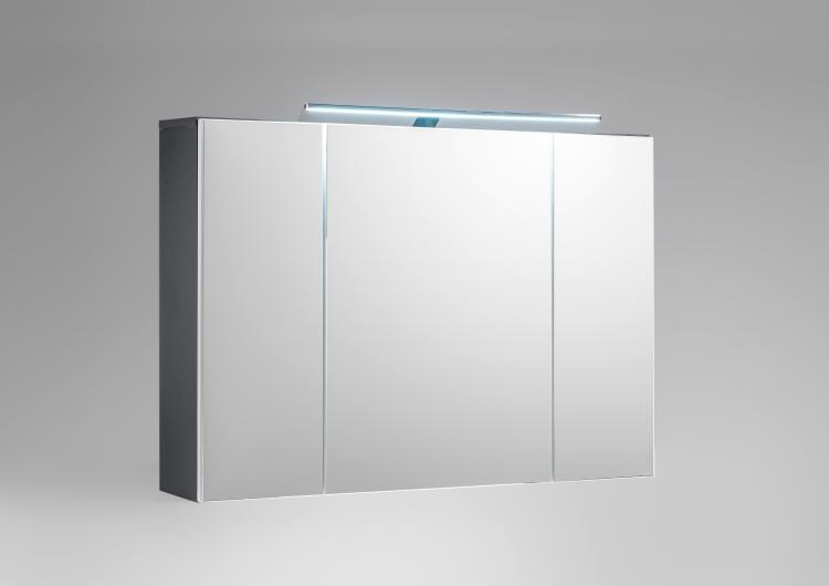 Spiegelschrank Bad Mit Beleuchtung.Bad Spiegelschrank Inkl Led Beleuchtung Manhattan Von Bega Weiss Hg Grau
