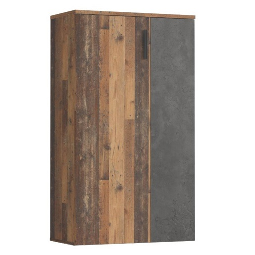 Schuhschrank 2-trg. BOOTS von Forte Old Wood Vintage Beton Dunkelgrau