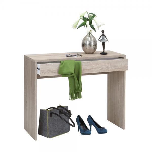 CHECKER 1 Konsole / Schreibtisch von FMD Eiche