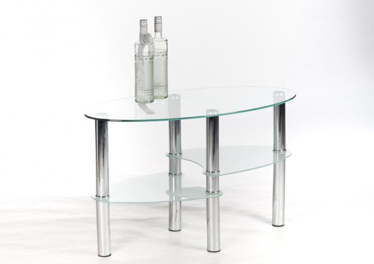 Couchtisch Klarglas/Edelstahl