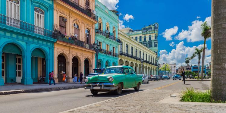 Deko-Panel GRAP 50x100 cm Motiv: Cuba von Spiegelprofi