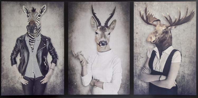 Deko-Panel GRAP 50x100 cm Motiv: Hipster von Spiegelprofi