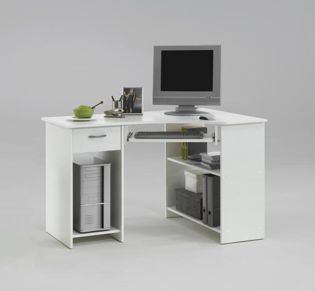 FELIX 1 Computertisch mit 1 Schubkasten von FMD Weiß