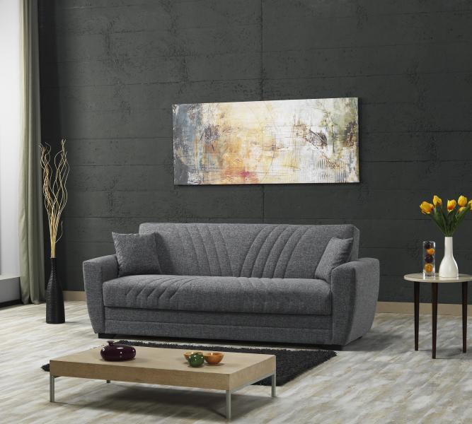 Funktionssofa 3-Sitzer inkl Schlaffunktion und Bettkasten ALANYA von Seher-Bomis Grau