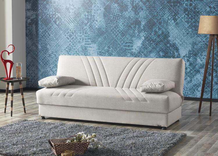 Funktionssofa 3-Sitzer inkl Schlaffunktion und Bettkasten KEMER von Seher-Bomis Beige