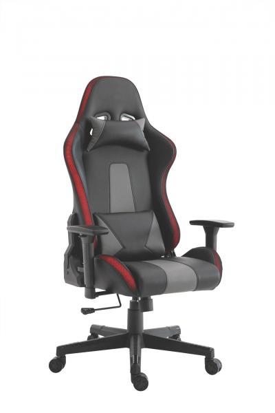 Gaming Stuhl Racer Bürostuhl inkl LED RGB Beleuchtung RENO von Intra direct Schwarz / Grau