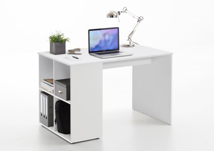GENT Schreibtisch mit Regal von FMD Weiß