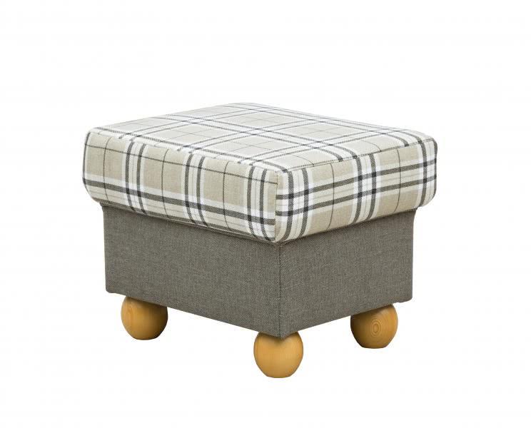 hocker wera von matex braun beige kariert. Black Bedroom Furniture Sets. Home Design Ideas