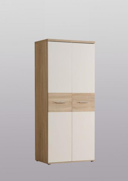 Kleiderschrank 2-trg Winnie von Forte Sonoma Eiche / Weiss