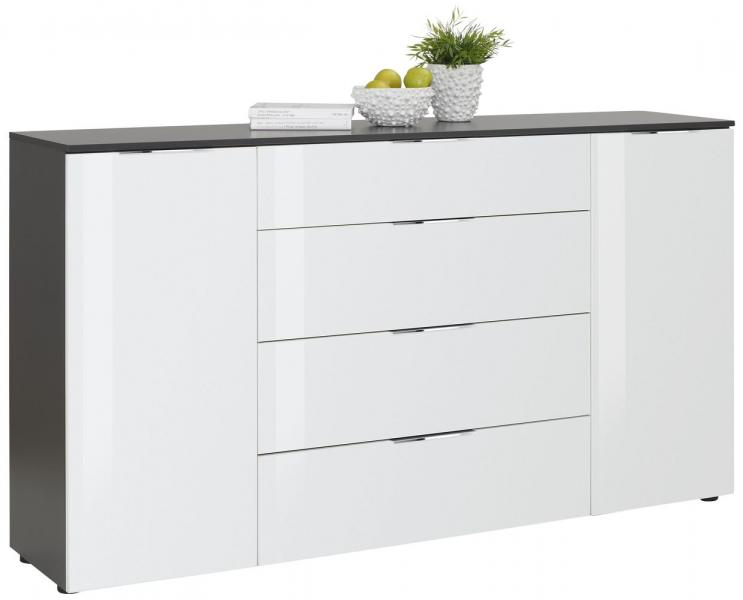 Sideboard 7816 TREND von MAJA Anthrazit / Weißglas