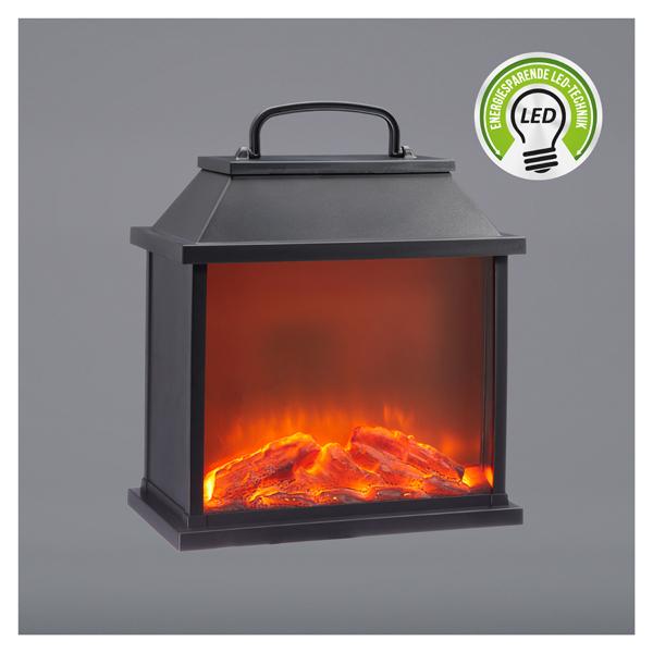 LED Kamin Laterne mit realistischen Flammenflackern von CEPEWA