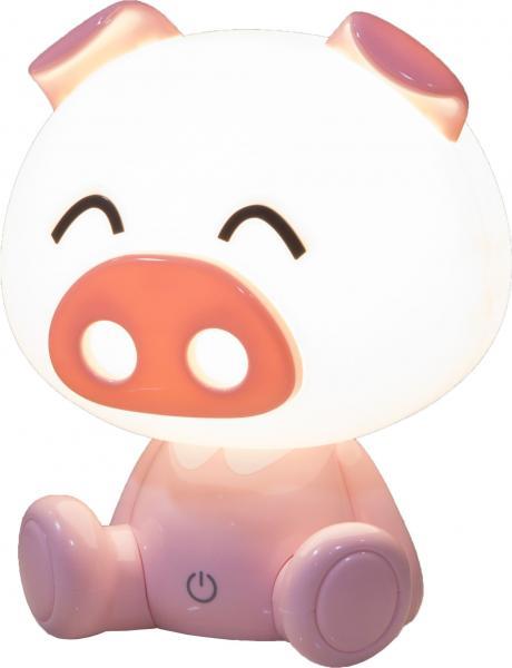 LED Tischleuchte PIG von Nino Kunststoff Pink