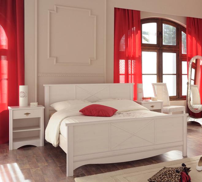 Schlafzimmer-Set 3-tlg inkl 160x200 Bett Marion 8 von Parisot Kiefer ...
