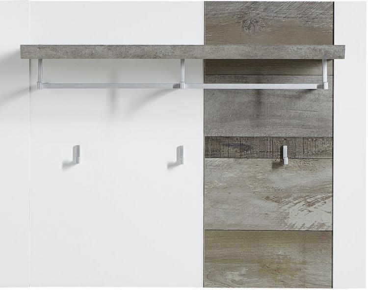 Garderobenpaneel MATEO von Innostyle Weiss Driftwood