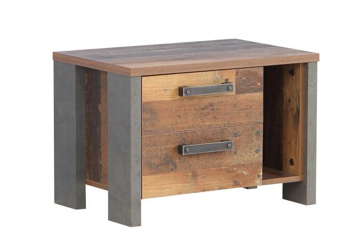 Nachtkommode CLIF von Forte Old-Wood Vintage / Beton