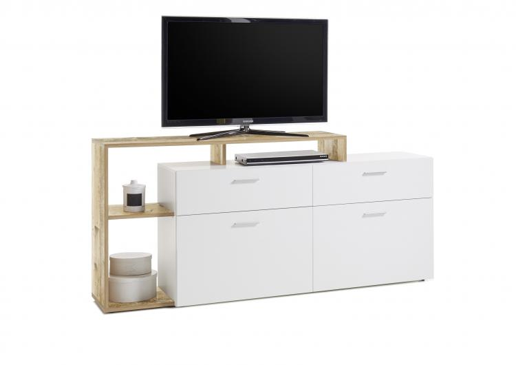 TV-Sideboard NEW VISION 3 von HBZ Weiss / Old Style hell