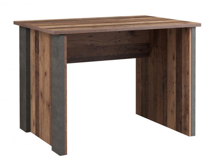 Schreibtisch 103 cm CLIF von Forte Old-Wood Vintage / Beton