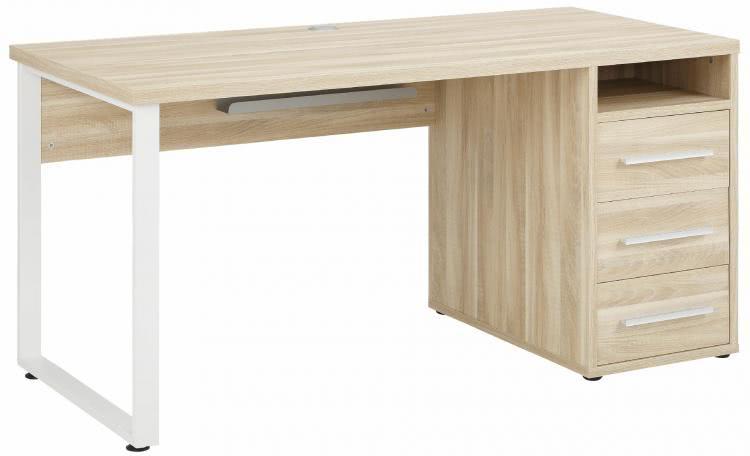 Schreibtisch inkl 4 Schubladen OFFICE von MAJA Eiche natur