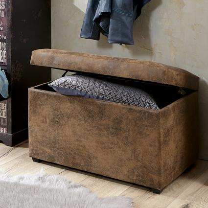 Sitztruhe 30886 von HAKU Vintage Braun