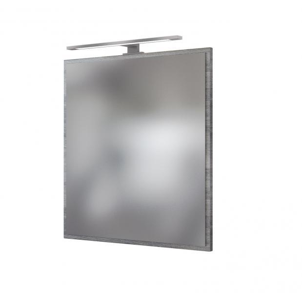 Spiegelpaneel 60 inkl Beleuchtung AREZZO von Held Möbel Graphit / Eiche rauchsilber