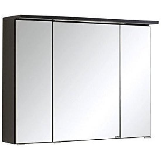 Spiegelschrank 80 inkl LED Einbauleuchte Bologna von Held Möbel Graphit