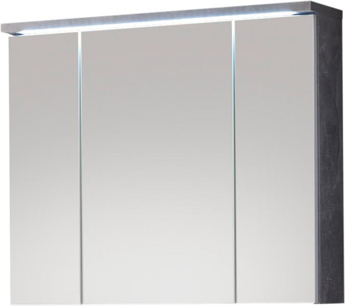 Spiegelschrank inkl LED Beleuchtung POOL von Bega Beton / Weiss